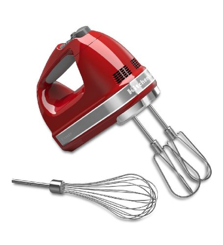NEW Kitchenaid Electronic Contrl Khm7210er 7 Speed Digital Hand Mixer Empire Red