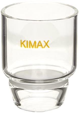 Kimax Glass Coarse Low Form Gooch Crucible, with Kimflow Fritted Disc