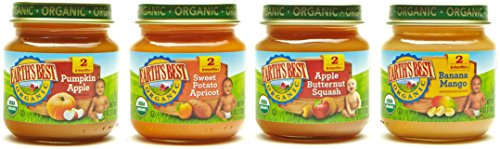 Earth's Best Stage 2 Baby Food Jars Fruit Antioxidant Blends Variety Pack, 12 Count