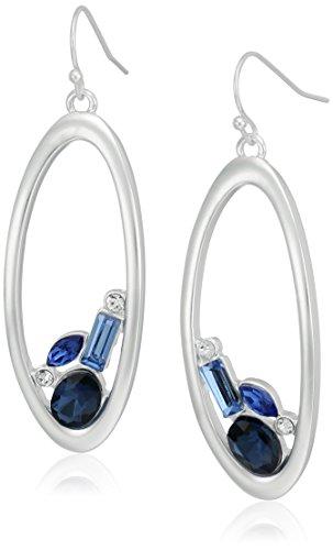 t-tahari-matte-silver-blue-stone-cluster-inside-oval-ring-drop-earrings