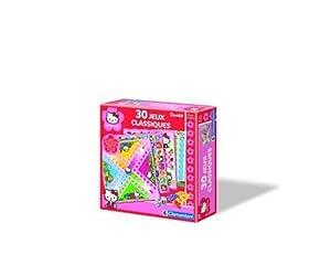Clementoni - 62139 - Jeu de société - Mallette - 30 Jeux Classiques Hello Kitty