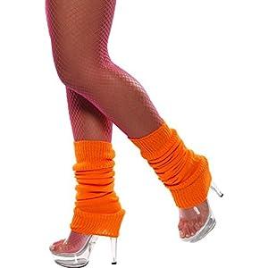 Smiffy's Unisex-Adult Leg Warmers, Orange, One Size