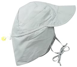 i play. Unisex Baby Solid Flap Sun Protecton Hat, Gray, Toddler/2 4 Years