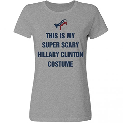 [Political Hillary Halloween Costume: Misses Basic Relaxed Fruit of the Loom Tee] (Miss America Costume 2016)