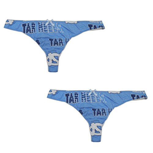 Pack-of-2-NCAA-NORTH-CAROLINA-TAR-HEELS-Womens-Stretch-Briefs-Thong-Panties-Underwear