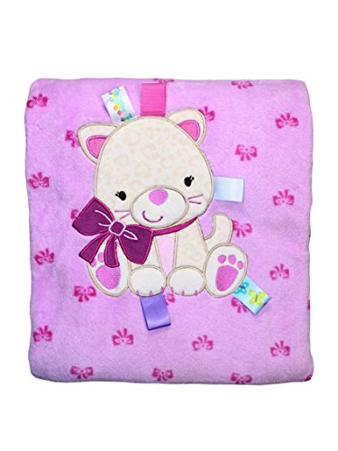 Taggies Baby Girl Kitty And Bow Stroller Blanket By Taggies - Lavender - Not Applicable front-519110