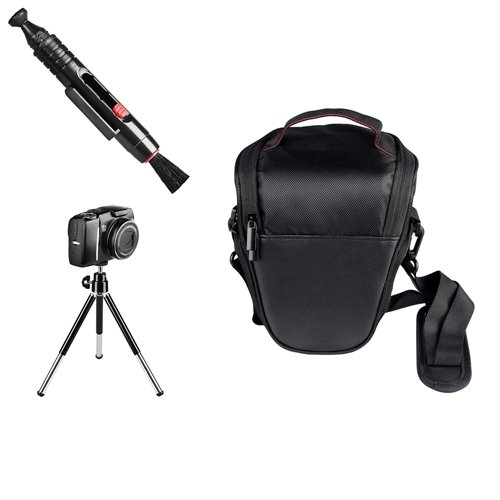 Schwarz Kamera Hülle Lens Pinsel Stativ für Canon 60D 550D 500D 1000D 600D 1100D