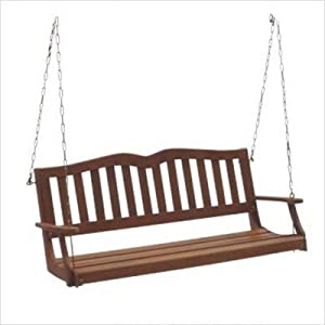 Dc America Ses902 Sequoia Porch Swing Hardwood Finish by DC America