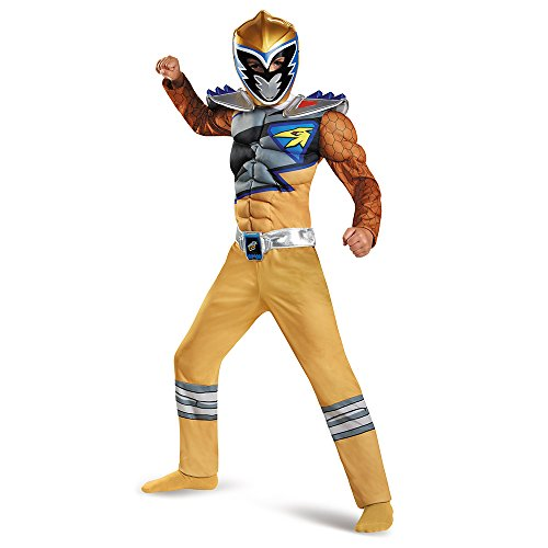 Gold Ranger Dino Charge Classic Muscle Costume for Kids