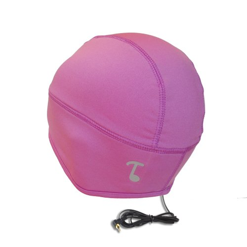 Tooks Sportec Skully Audio Headphone Beanie Hat With Built-In Removable Headphones - Color: Pro Pink, Comfortable 100% Prostretch (Dryfit) Keeps You Cool, Wear Standalone Or Under Helmets, Unique Gift Idea