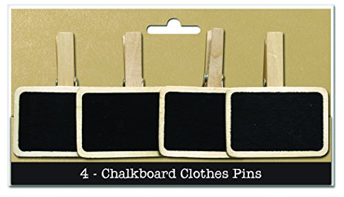 Bottle Cap  PIN4CHLK Chalkboard Clothespin, 4-Pack - 1