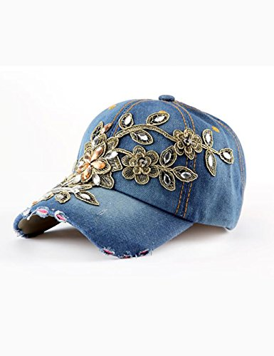 Primavera e l'autunno e l'inverno adattano personalità regolabile con strass Cappello da cowboy del berretto da baseball della visiera (8 tipi di stili opzionale) ( stile : F. )