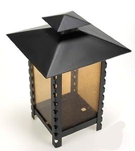 Moll 28600 Grablaterne aus Stahl, schwarz, mit bronzefarbener Verglasung, 14 x 14 x 23 cm