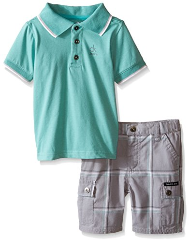calvin-klein-baby-boys-jersey-polo-shirt-and-plaid-shorts-gray-24-months