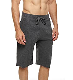 Polo Ralph Lauren 100% Cotton Knit Sleep Shorts (P723) M/Charcoal Heather