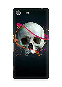 Amez designer printed 3d premium high quality back case cover for Sony Xperia M5 (Skull lines vector confetti arrows)