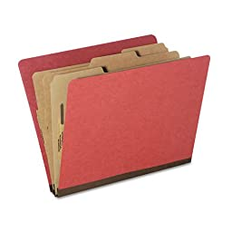 NSN5726208 Classification Folder,8-Sections,Letter,10/PK,Earth Red