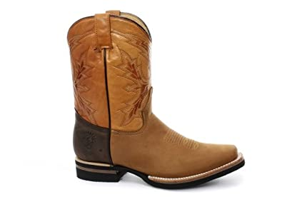 Grinders El Paso Homme Western Cowboy Bottes, Beige, Pointure 46