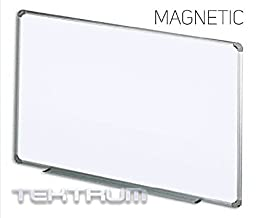 TEKTRUM MAGNETIC DRY ERASE BOARD WITH ALUMINUM/PLASTIC FRAME 36 X 24 INCHES, WHITE