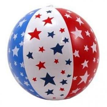 "14"" Patriotic Beach Ball Inflate"