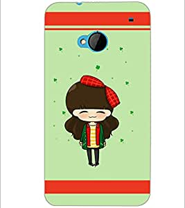 PrintDhaba Cute Doll D-5875 Back Case Cover for HTC ONE M7 (Multi-Coloured)