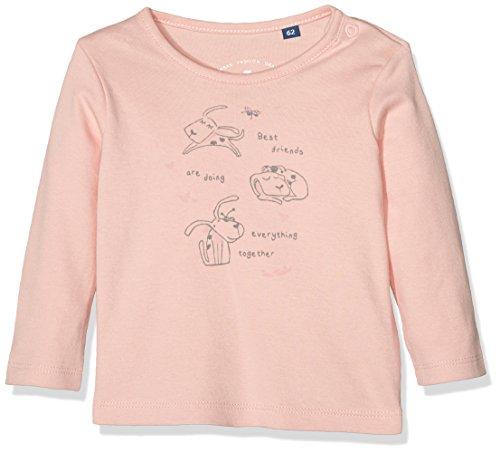 TOM TAILOR Kids Interlock Print T-Shirt, Maglia a Maniche Lunghe Bimbo, Rosa (Rose Sorbet), 2 Anni (Taglia Produttore: 92)