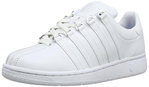 K-Swiss Women's Classic Vintage Fashion Sneaker, White/White, 11 M US