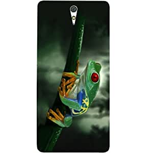 Casotec Frog On Branch Design Hard Back Case Cover for Sony Xperia C5 Ultra Dual