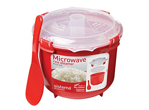 Sistema Microwave Cookware Rice Steamer, 87.2 Ounce/ 10.9 Cup, Random Colors (Rice Cookers & Steamers compare prices)