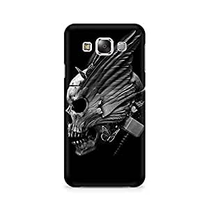 Mobicture Skull Abstract Premium Printed Case For Samsung E7