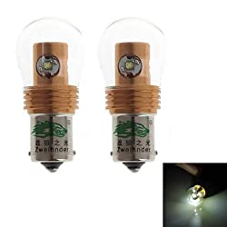 See Zweihnder 1156 20W 1900LM 6000-6500K 4xCree XP-E LED White Light Bulb for Car Reversing Lamp (12-24V,2 Pieces) Details