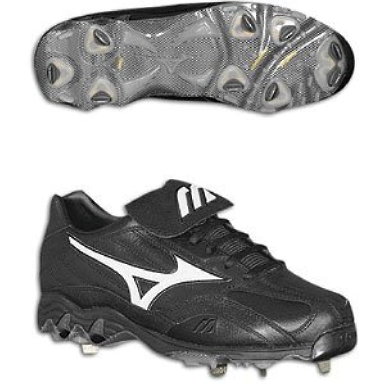 Mizuno 9-Spike Vintage Low Men's Baseball Cleats (Black/White) (11.5) [Apparel]