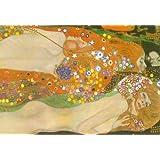 Gustav Klimt Water Snakes Friends II Art Print Poster - 24x36 custom fit with RichAndFramous Black 36 inch Poster Hangers