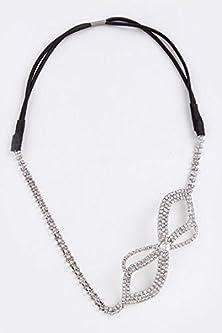 buy Karmas Canvas Rhinestone Encrusted Wide Bow Design Headband