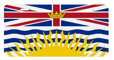 British Columbia Canada Flag Vanity Auto License Plate