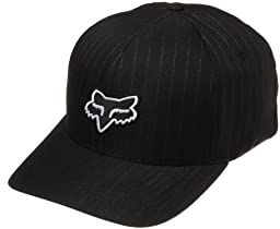 Fox Head Men's Legacy Flexfit Hat, Black Pinstripe, Large/X-Large