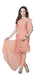 Minu Suits Cotton Unstiched Dress Material New Orange