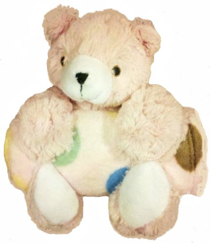 Pem America Bear with Blanket Pillowand Blanket SetPink Dot