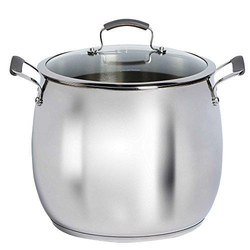 Epicurious Stainless Steel 16 qt. Covered Stock Pot (16 Qt Cast Iron Pot compare prices)