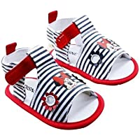 Baby Bucket Pre-Walker Sandal Shoes Light Weight Soft Sole White Color minnie mouse Booties Sandal (0-6 Months)