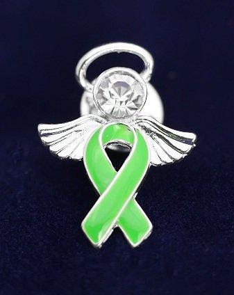 Green Ribbon Pin- Angel Tac (36 Pins)