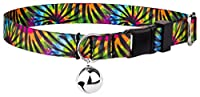 Country Brook Petz Tie Dye Stripes Feather Weight Cat Collar