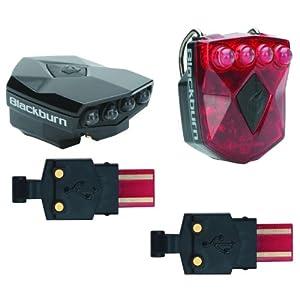 Blackburn Rück+Frontlicht FLEA Front & Rear Combo2.0 USB, schwarz, 3540251