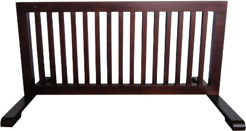 Mdog2 Free Standing Pet Gate, 23.6-Inch To 39.4-Inch By 20.1-Inch By 21.6-Inch, Dark Walnut