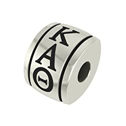 Kappa Alpha Theta Barrel Sorority Bead Charm Fits Most European Style Bracelets Including Chamilia Kera Troll and More. High Quality Bead in Stock for Fast Shipping