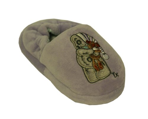 Girls Lilac Tatty Teddy Bedtime Slippers Size 7 Infant Kids Style 019
