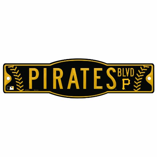 MLB Pittsburgh Pirates 4.5-by-17 Sign