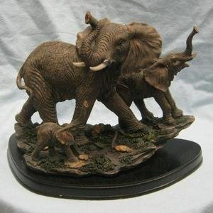 Elephant Family Collectible Wildlife Animal Figurine Statue Sculpture