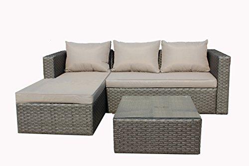 Brema-052261-Alu-Geflecht-Loungeset-3-teilig-1-Sofa-2-Sitzer-und-1-Ottomane-mit-Sitz-und-Rckenkissen-1-Tisch-mit-Glasplatte-65-x-65-x-32-cm-grau-taupe