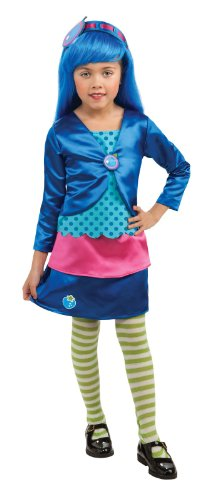 Rubies Strawberry Shortcake And Friends Deluxe Blueberry Muffin Costume, Medium front-495059